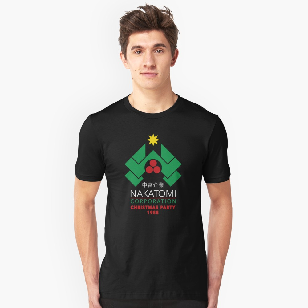 Nakatomi Corporation Christmas Party 1988 T Shirt (Die Hard)