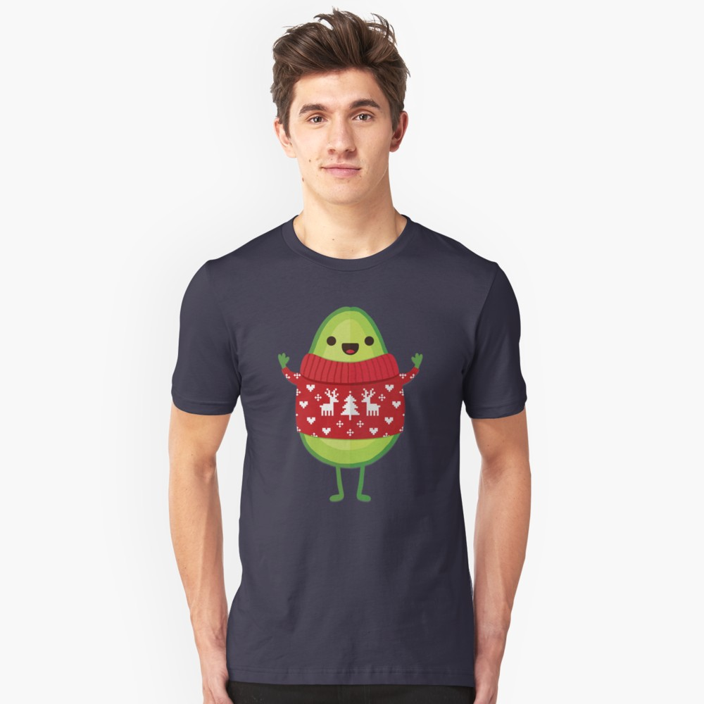 Avocado Merry Christmas T Shirt