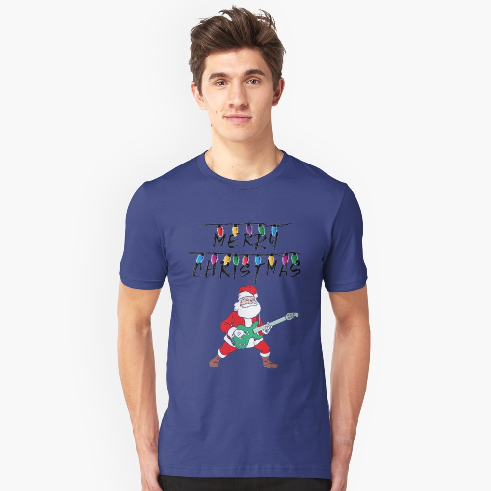 Merry Christmas Santa Guitar Hero T-Shirt