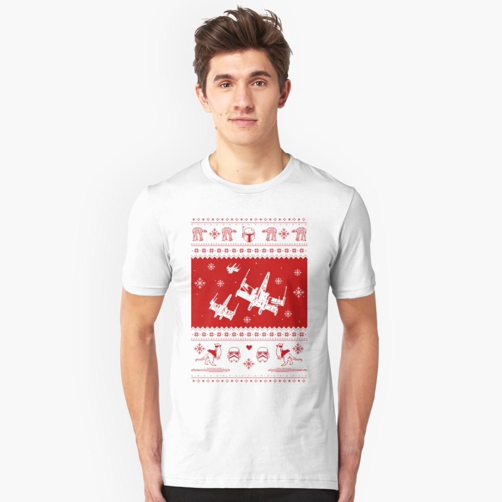 Nerd Pixel Christmas Sweater T-Shirt (Star Wars)