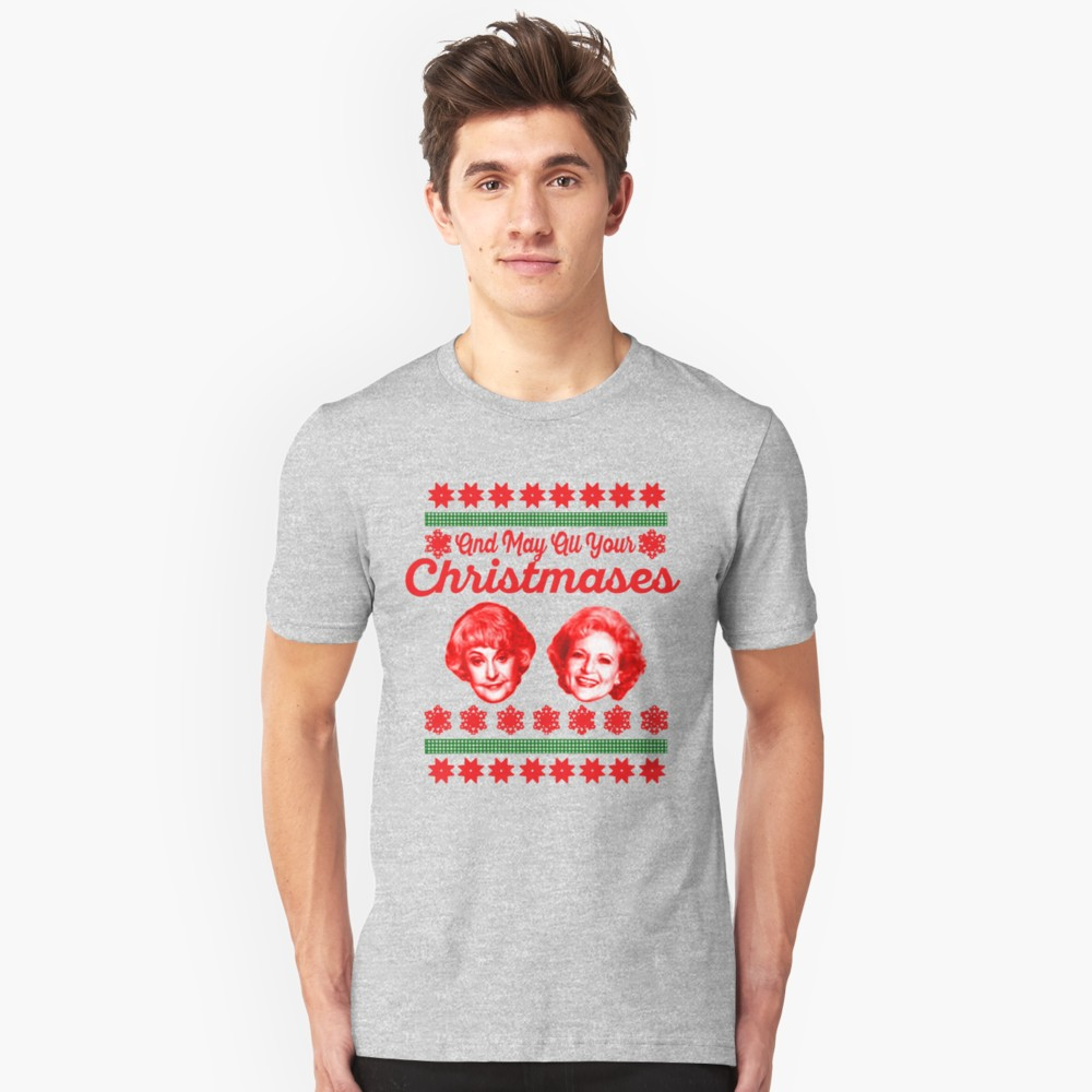 And May Your Christmases Bea White T-Shirt (Bea Arthur and Betty White)