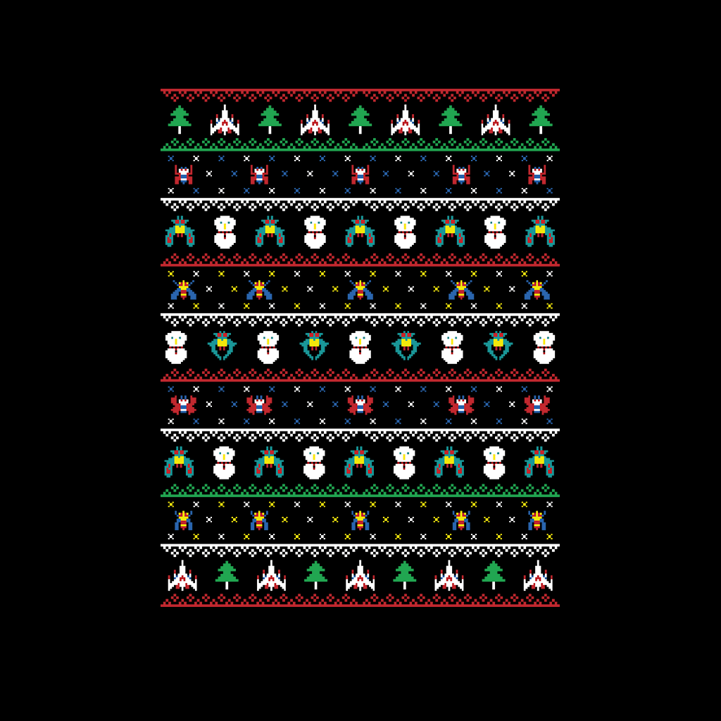 Galaga Christmas T Shirt