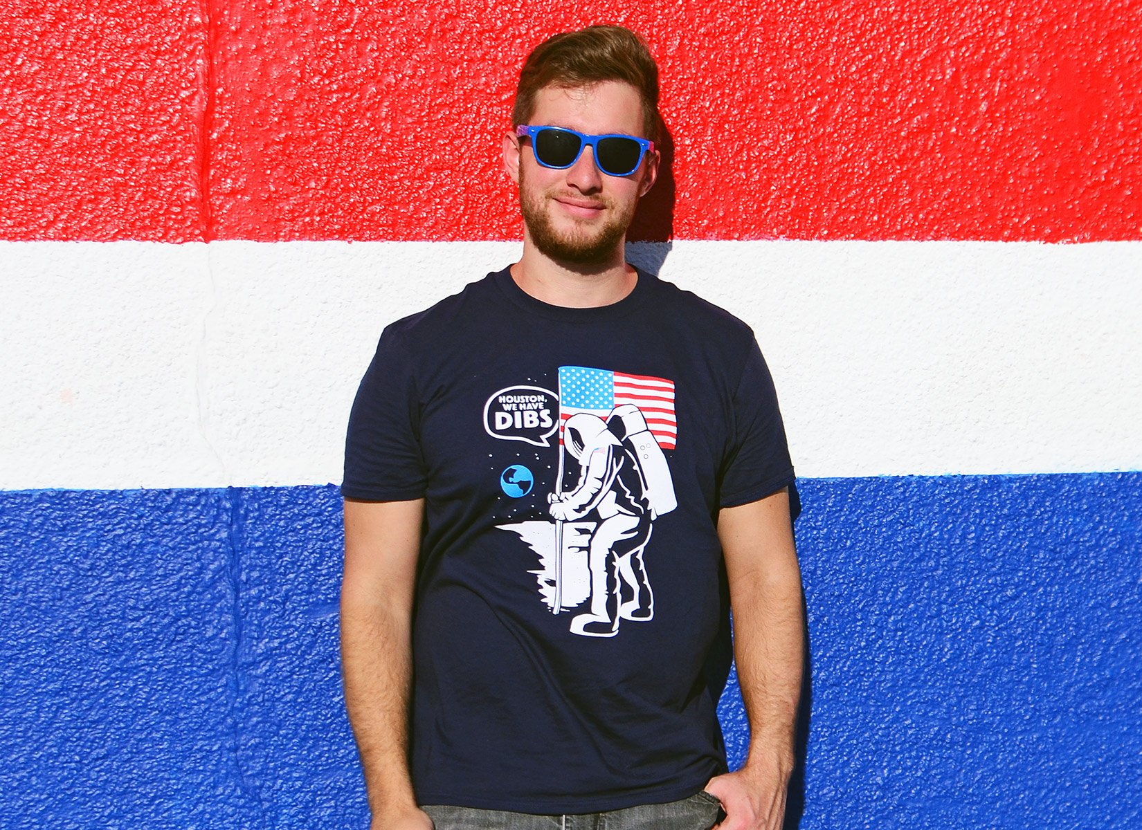 Houston We Have Dibs Moon Landing T-Shirt