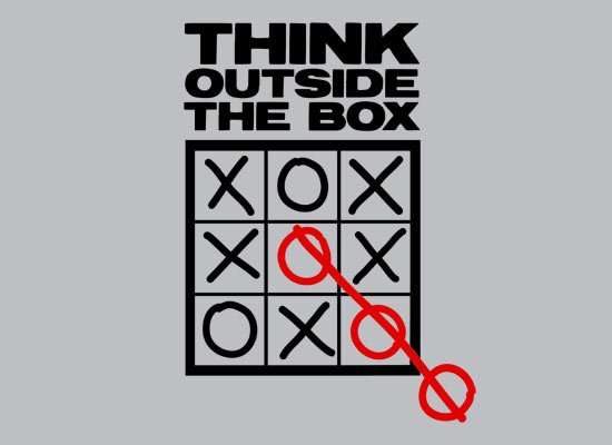 Think Outside the Box Tic Tac Toe Cheater T Shirt