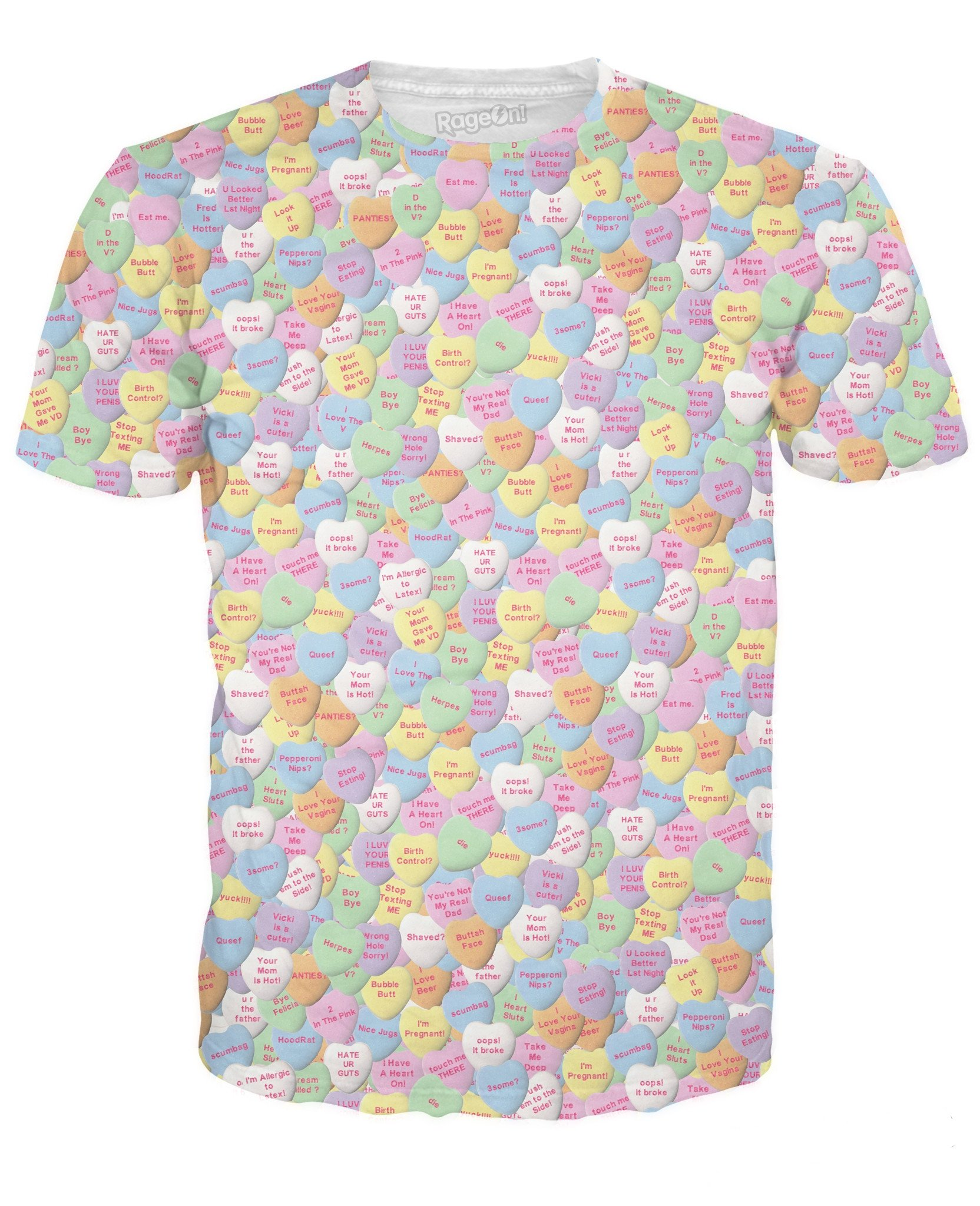 Naughty Candy Hearts T Shirt