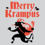 Merry Krampus T Shirt: St. Nick's Evil Counterpart