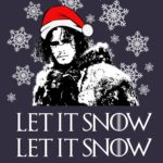 Let It Snow Jon Snow T Shirt (Game of Thrones)