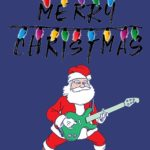 Merry Christmas Santa Guitar Hero T Shirt