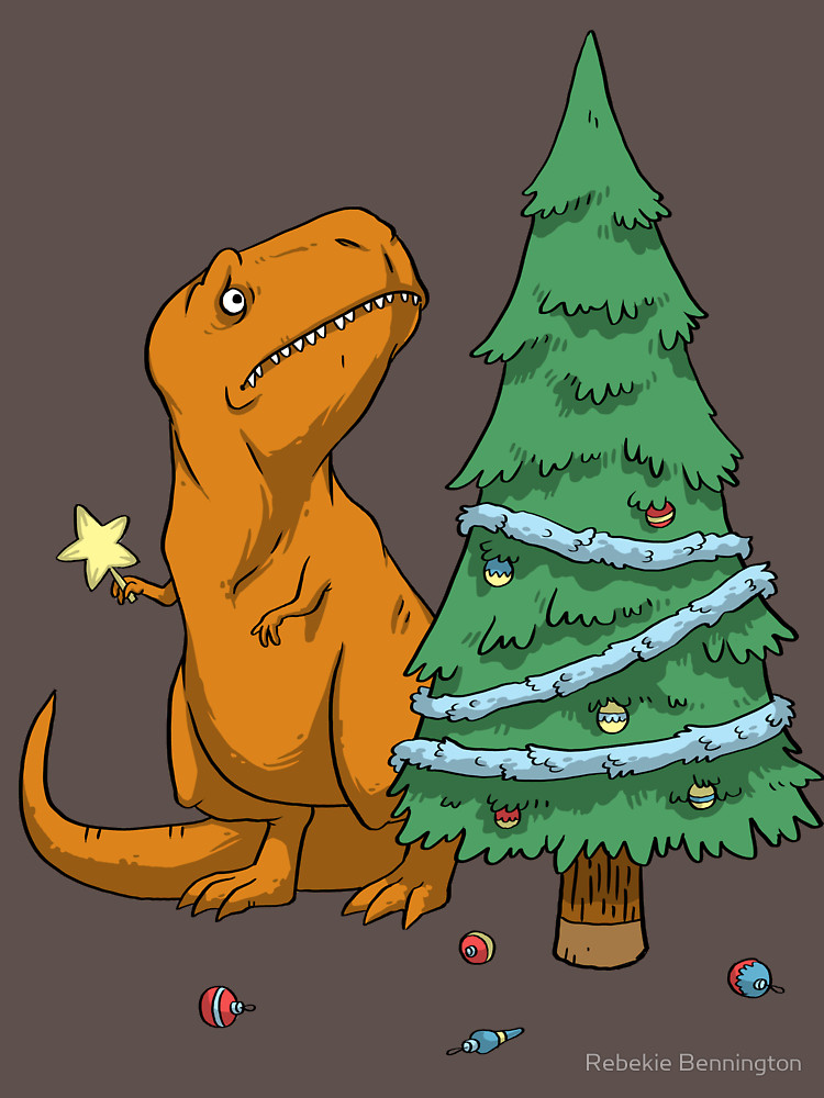 The Struggle T-Rex Christmas Tree T-Shirt