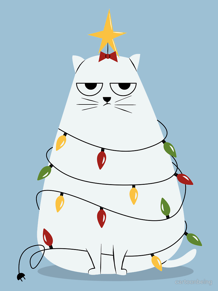 Grumpy Cat Christmas Tree T Shirt