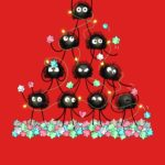 Merry Dusty Christmas T Shirt (My Neighbor Tortoro Sootballs)