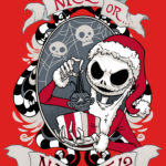 Nice or Naughty Scary Santa T Shirt (Nightmare Before Christmas)