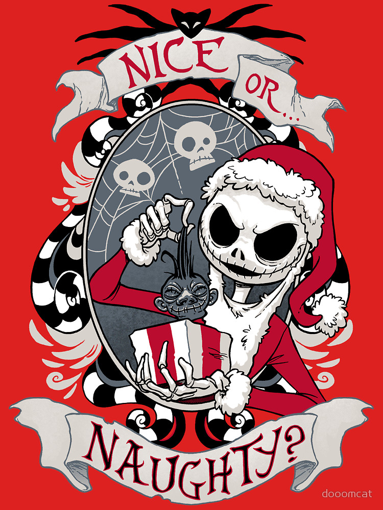 Nice or Naughty Scary Santa T-Shirt