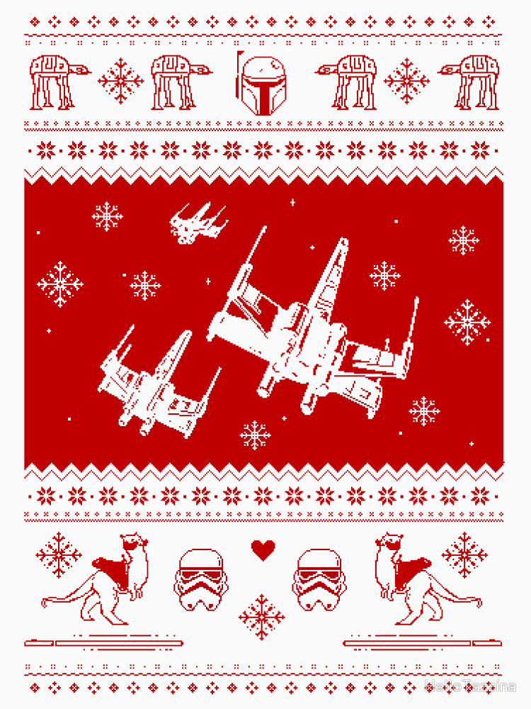 Nerd Pixel Star Wars Christmas Sweater T Shirt