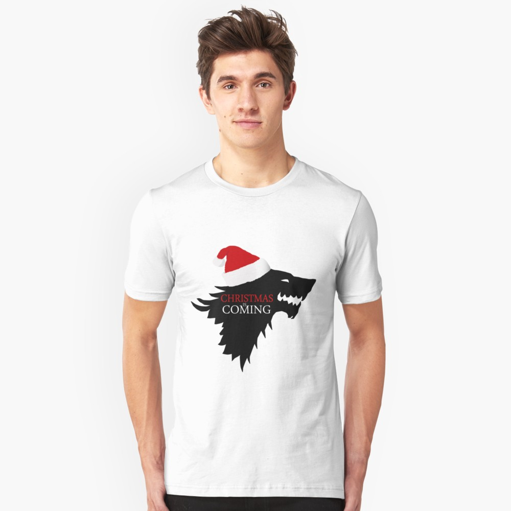 Christmas is Coming Direwolf T Shirt (Game of Thrones)