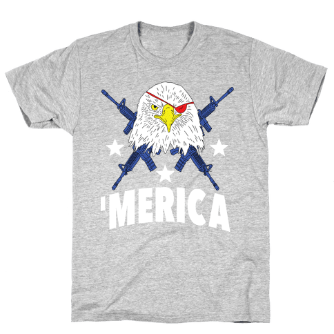 Bad Ass Bald Eagle T Shirt