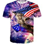 Mister Patriotic Cat T Shirt