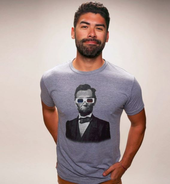 Abe Lincoln 3D Glasses T Shirt