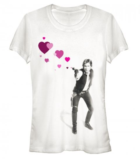 Han Solo Shooting Hearts T Shirt