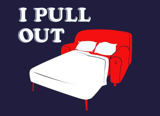 I Pull Out Hide-a-Bed T Shirt