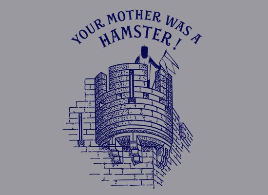 Your Mother Was a Hamster T Shirt (The Holy Grail)