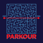 Parkour Maze T Shirt: Are You a Cheater or a Winner or Both?