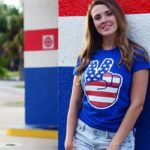 USA Peace Sign T Shirt