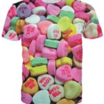 Valentine Candy Hearts T Shirts