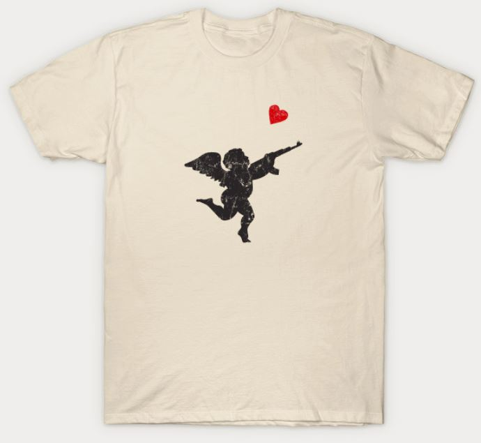 Funny Valentine's Day T-Shirts With Cupid