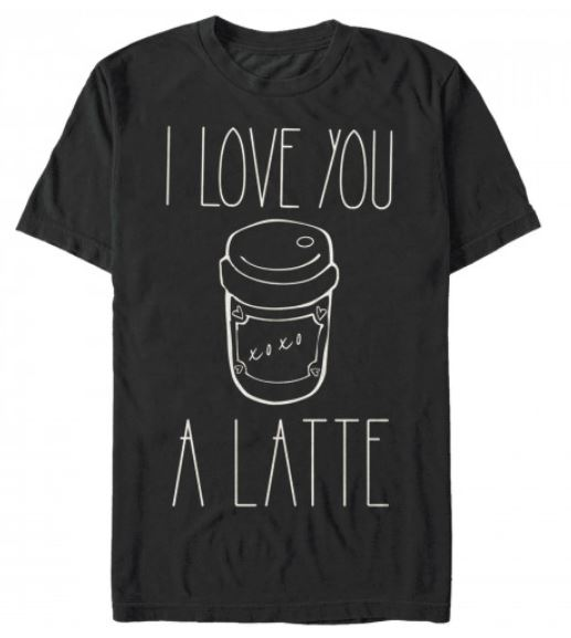 Valentine Shirts Featuring Coffee