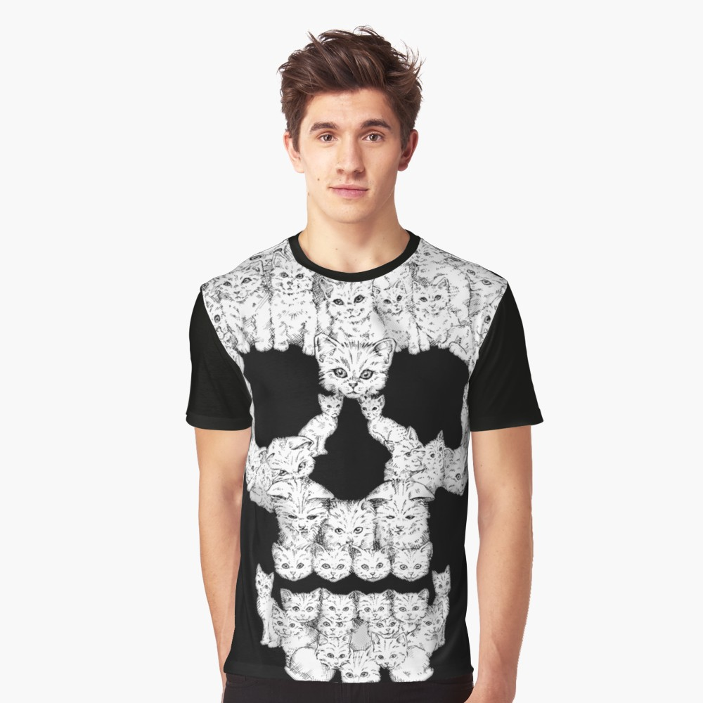 Skull Kitties T Shirt