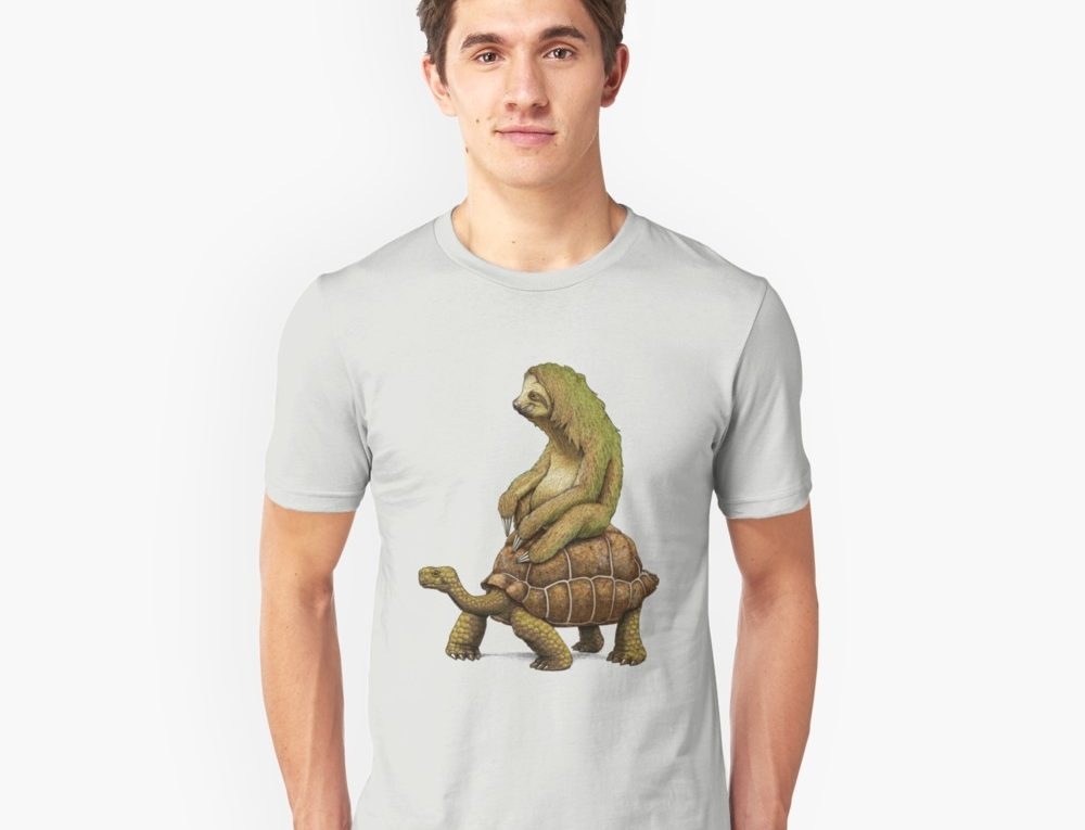 Speed Is Relative Sloth Riding a Tortoise